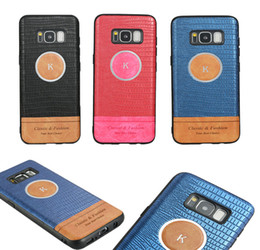 Wholesale Galaxy Skin Back Cover Cases - For Samsung Galaxy S9 Plus Note8 S8 S7 Edge A8 2018 Luxury Ultra Thin Slim Back crocodile Leather skin Cover Soft TPU Phone Case 50pcs