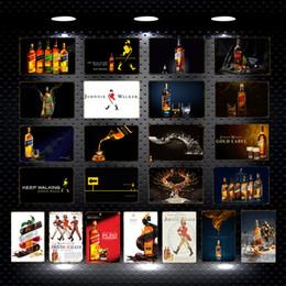 2019 panneau marcheur Continuez à marcher Johnnie Walker Whiskey Bière En Métal Signes Rouge Bule Gold Label Vin Mur Affiche Affiche Bar Pub Party Décor À La Maison YN189 panneau marcheur pas cher
