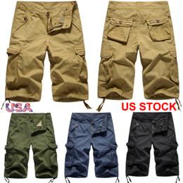 453331ac141 Mens Cargo Shorts short pants Army Combat Half Pants Summer Men Work Casual  Short Trousers