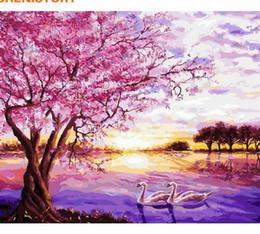 CHENISTORY Purple Romantique Peinture BRICOLAGE Par Numéros Moderne Maison Mur Art Photo Peint À La Main Peinture À L'huile Pour La Décoration De Mariage ? partir de fabricateur
