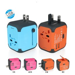 Wholesale usb charging wall socket power - US AU UK EU Plug Wall Chargers universal Travel Adapter Electric Plugs Sockets Converter with Dual USB Charging 2.4A LED Power OTH837