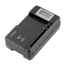 Wholesale Spare Battery Charger - Mobile Universal Battery Charger LCD Indicator Screen For Cell Phones USB-Port Convenient Interchanging For Spare Batteries