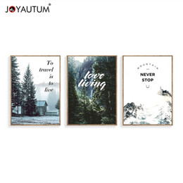 Wholesale Wholesale Wall Pictures - JOYAUTUM Nordic Forest Posters Print painting Wall Pictures For Living Room Wall Art Home decoration painting