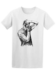 2019 ilustrações de free cartoon Fotógrafo Esboço Foto Gráfico Tee Camiseta Mens Moda Homens Dos Desenhos Animados Impressão de Manga Curta T Shirt Frete Grátis ilustrações de free cartoon barato