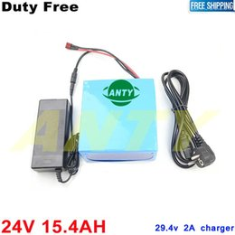 Wholesale 24v battery scooter - 7S 7P Battery 24v 15.4Ah 350W Scooter Lithium Battery 24v with 15A BMS + 2A Charger Electric Bike Battery 24v Duty Shipping Free