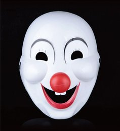 Wholesale Clown Noses - Crazed Red Nose Clown Mask Horror Halloween Scary Grimace Fancy Party Masks Dress Circus Troupe Party