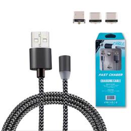 Argentina 3 en 1 Cargador magnético usb Cable Tabletas cables de tipo c con paquete Para ip5 / 6/7 Smartphones Samsung Xiaomi Suministro