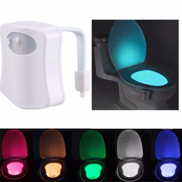 Wholesale Toilet Toys - Cuifuli Funny Light-Up Toys Smart Bathroom Toilet LED Body Motion Activated On Off Seat Sensor Lamp 8 Color Toilet lamp hot