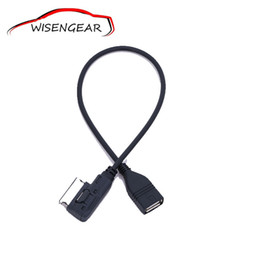 Wholesale Cable Interface Q7 Usb - Car Cable Music Interface AMI MMI MDI To Jack USB Charger Cable Adapter For Audi A3 A4 A5 A6 A8 Q5 Q7 Q8 For VW MK5 C 5