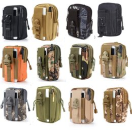 Wholesale Backpack Military Molle Tactical - EDC Military Molle Pouch Waist Bag Men Camo Waterproof Nylon Mulfition Fanny Pack Male Mobile Phone Case Tactical Hiking Camping Tool Bag