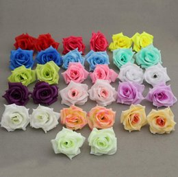 Wholesale camellia silk flower - BEST SELLER FLOWER HEADS 100p Artificial Silk Camellia Rose Fake Peony Flower Head 7--8cm for Wedding Party Home Decorative Flowewrs