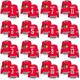 b2c460fe7 Customized Mens Womens Youth Chicago Blackhawks 1 Glenn Hall 2 Duncan Keith  3 Keith Magnuson 3 Pierre Pilote 4 Bobby Orr Hockey Jerseys