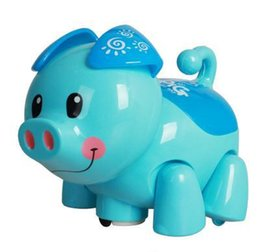 Wholesale Plastic Toy Pigs - Hot Sale Interactive Toy Cartoon Pig Electronic Toys Electric Virtual Pets Pig With Flashing Sounding