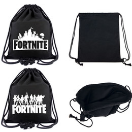 77d175056bed Game fortnite large size 40 34cm canvas travel storage printed drawstring  bag teenager Drawstring bag Kids mochila backpack beach bags LC943