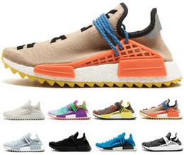 low priced 0e5f6 050e8 Adidas nmd human race Designer Human Race Hu trail Chaussures de course  pour homme Femmes Pharrell Williams Noyau d encre noble jaune Black Red  Runner ...