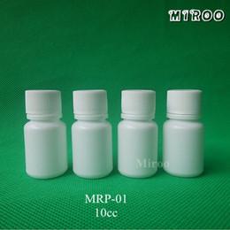 2019 botella cuentagotas bomba Envío gratis 100 + 2sets 10g botella de píldora farmacéutica blanca, recipiente de plástico de boca ancha con tapón de rosca y tapa