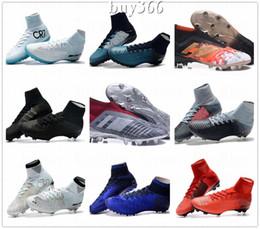 Alta Top Mercurial CR7 Superfly V FG Mens Crianças Sapatos de Futebol Magista Obra 2 Meninos Botas de Futebol Mulheres Chuteiras De Futebol Da Juventude Cristiano Ronaldo de