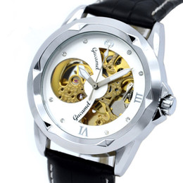 Wholesale Folding Water Glass - 2018 Original 30M waterproof watch double face hollow out fashion skeleton automatic men mechanical self wind brand swimming A259