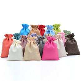 "Упаковка для ювелирных изделий онлайн-3.9""x5.5"" Small Jute Gift Bags Wedding Favor Pouch Packaging Bag for Candy Jewelry Christmas Party Supplies Gift Bag/Box 50pcs"