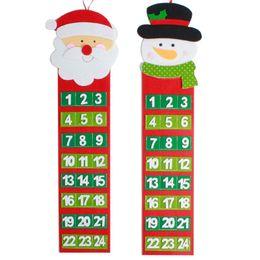 CHAUD! Bonhomme de neige Noël Père Noël Bonhomme De Neige Suspendu Calendrier De Noël Porte Fenêtre Mur Décoration De Noël Cadeau De Noël ? partir de fabricateur