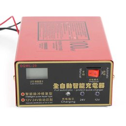 Wholesale Free Shopping Online - Online shopping 12V 24V 10A 6-105AH Universal Car Motorcycle Battery Charger Lead Acid Battery Charger Free Shipping