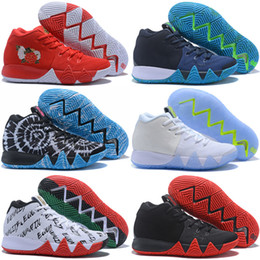 Wholesale Golf Shoes Brown Leather - BHM Confetti Obsidian Kyrie 4 CNY EP Black White Men Basketball Shoes Kyrie Irving 4s IV Red Green mens trainer Sports Sneakers 40-46