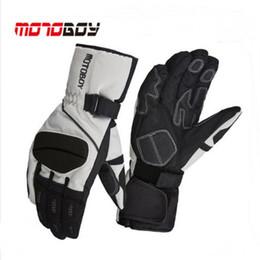 Wholesale Motorbike Cross - 2017 Winter warm Cross country Motoboy Motorcycle Gloves windproof waterproof motorbike glove Non-slip Wrestling Reflective 3 co