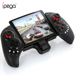 Wholesale game pad tablet - iPEGA PG-9023 Joystick For Phone PG 9023 Wireless Bluetooth Gamepad Android Telescopic Game Controller pad Android IOS Tablet PC