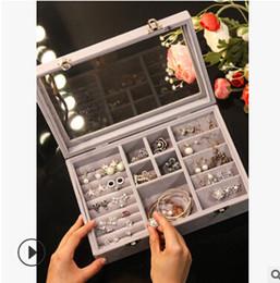 2019 женщины смотрят прозрачно Transparent Flannelette Jewelry Storage Box Dustproof Ring Earring Organizer Europe Style Women Watch Bracelet Case 4 Styles скидка женщины смотрят прозрачно