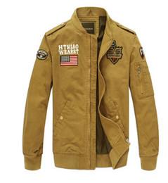 Wholesale Cargo Jackets - Military Style Jackets Men Spring Autumn Army MA1 Slim Jacket Cargo Bomber Baseball Jackets Coats