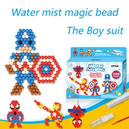 Agua caliente Aqua cuentas juguetes pegajoso perler beads pegboard set fusible cuentas rompecabezas de Agua grano mágico beadbond juguetes educativos para niños desde fabricantes
