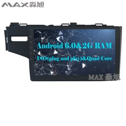 Wholesale Honda 4g - 2G+16G Android 6.0 Car DVD Player for Honda fit 2014 2015 2016 with BT 3 4G WIFI SWC GPS FREE MAP