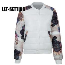 Wholesale New Korean Down Jacket - LET-SETTING new fashion women winter Korean female flower short Slim Down thick padded jacket