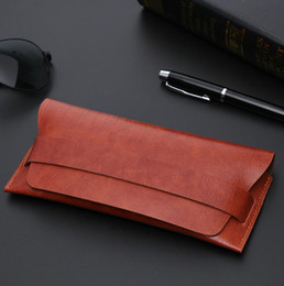 Wholesale Eyeglasses Storage Case - Soft Durable PU Leather Glasses Case Top Quality Vintage Sunglasses Eyeglasses Storage Holder Retro Box Cases