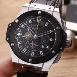 Wholesale watch spider - High Quality New King Power 48mm 3 Colors Rose Gold Black Spider webs Dial Quartz Chronograph Mens Watch Stopwatch Rubber Watches HB144a