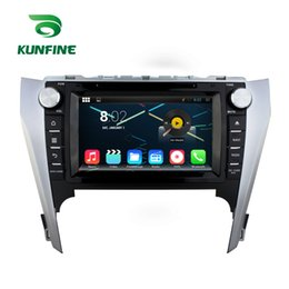 Wholesale Toyota Camry Navigation Screen - Kunmart Quad Core Android 7.1 Car DVD GPS Navigation Multimedia Player Car Stereo for Toyota Camry 2012 Autoradio
