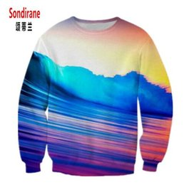 women sky sweatshirts NZ - Sondirane New Fashion Men Women 3D Print Colorful Sky Sweatshirts Long Sleeve Casual Pullover Tracksuit Tops Cheap Clothing