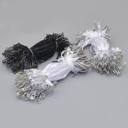 Wholesale pin string - 1000 pcs Premade Hang Tag Cord with Safety Pin Garment Price Swing Tag DIY String Cord
