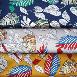 2019 antikes tibetisches türkis 100% Polyester neuer Blumenstoff Twill, Patchwork, DIY Patchwork, Twill-Jacquard-Stoff, Strandhosen bedruckte Stoff-Accessoires