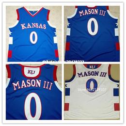 Wholesale Ku Jayhawks - Cheap Frank MASON III Jersey, #0 KU 's Kansas Jayhawks Jerseys Mens 100% Double Retro Stitched Top Quality Basketball Jerseys