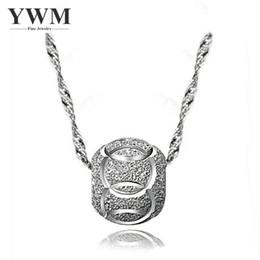 2019 willkommene mädchen YWM 925 Sterling Silber Transfer Perlen Anhänger Halskette Koreanisch für Frauen Mädchen Willkommen Schmuck Großhandel günstig willkommene mädchen