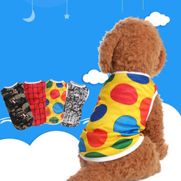 Wholesale Hot Dogs For Wholesale - For Summer Puppy Clothes Comfortable Breathable Pet Vests Dot Skull Head Lattice Camouflage Pattern Dog Shirt Hot Sale 3 2dc B