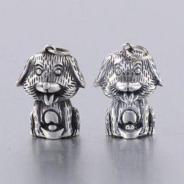 joyería de plata de los hombres Rebajas Real Plata esterlina 925 Naughty Dog colgante para mujeres y hombres encanto flotante Cute Animal Jewellery