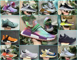 2018 New Pharrell Williams Human Race NMD Running Shoes Black White Grey Nmds men women Sports primeknit PK runner XR1 R1 R2 Sneakers