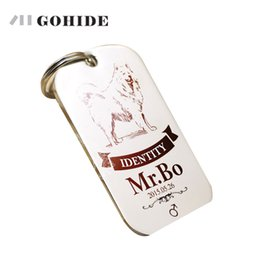Wholesale Large Pet Id Tags - JUH 1pcs Cat Dog Customized ID tags personalized engraving pet identity card Dog Tag pet collar lettering bell badge