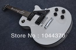 Wholesale Custom Pickguard Guitar - Promotion!!! LP Custom Electric Guitar, Alpine White, Pickguard with Star
