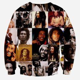 Wholesale Bob Marley Women - Hip Hop Hoodie Bob Marley Sweatshirts Men Women long sleeve 3d sweatshirt print casual hoodies tops tracksuits pullover