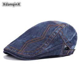 Kopfbedeckungen Für Herren Siloqin 100% Baumwolle Männer Hut Vintage Baskenmütze 2019 Neue Gewaschen Tuch Zunge Caps Für Männer Snapback Kappe Einstellbar Größe Retro Cap