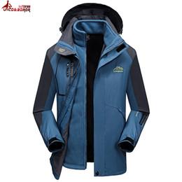 Wholesale Waterproof Coats Plus Size Women - UNCO&BOROR plus size 6XL 7XL 8XL Two Pieces Winter jacket men women Windproof Waterproof warm outwear thicken snow parka coats