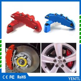 abs car brakes Coupons - free shipping 2pcs Set ABS Car Brake Caliper Front Rear Brake Caliper Cover Case Wheel Hub Decoration Accessories Front Rear Pliers